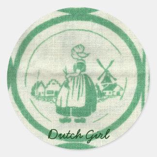 Dutch Girl Stickers Stickers