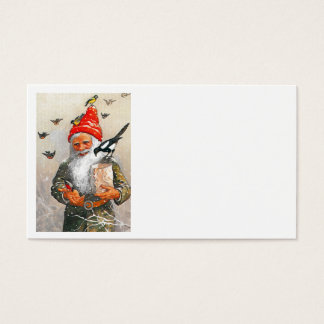Dutch Gnome Feeding the Birds Business Card