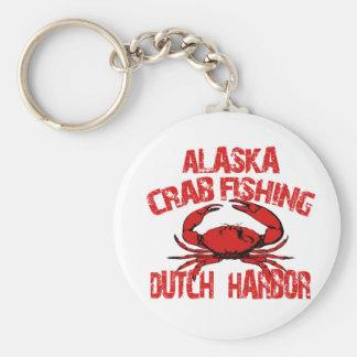 Dutch Harbor Alaska Red Crab Fishing Basic Round Button Keychain