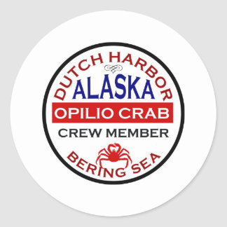 Dutch Harbor Opilio Crab Crew Member Classic Round Sticker