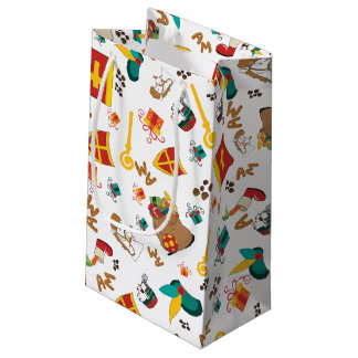 Dutch Holiday, the Sinterklaas Celebration Design Small Gift Bag
