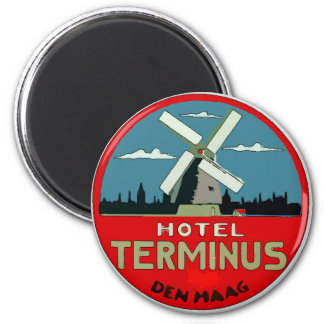 Dutch Hotel Travel Sticker Magnet