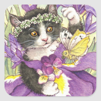 Dutch Iris Kitten stickers