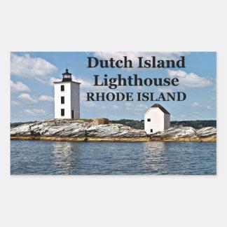 Dutch Island Lighthouse, Rhode Island Stickers
