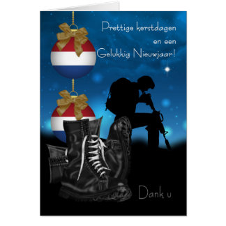 Dutch Military Christmas Greeting Card With Pride