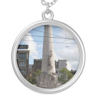 Dutch National Monument Silver Plated Necklace