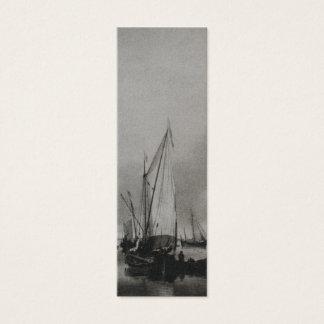 Dutch Painting Boats on Sea Holland Bookmark Mini Business Card