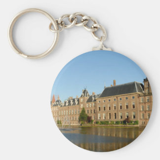 Dutch parliament buildings reflected in Hofvijver Keychain