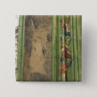 Dutch Photograph 3 Angels From Church 2 Inch Square Button