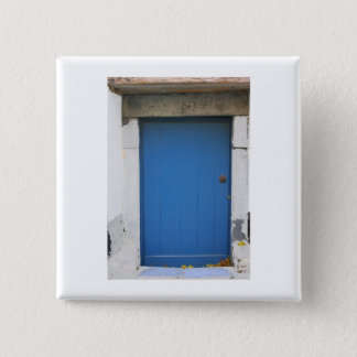 Dutch Photograph Blue Door 2 Inch Square Button