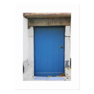 Dutch Photograph Blue Door Postcard