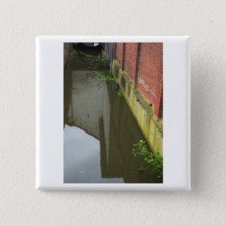 Dutch Photograph Canal Gracht 2 Inch Square Button