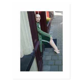 Dutch Photograph Door Mannequin Postcard