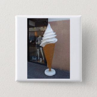 Dutch Photograph Ice Cream Cone 2 Inch Square Button