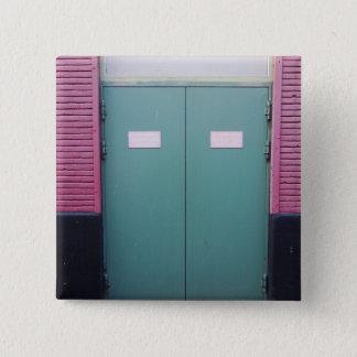 Dutch Photograph Pale Green doors 2 Inch Square Button