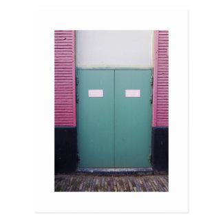 Dutch Photograph Pale Green doors Postcard