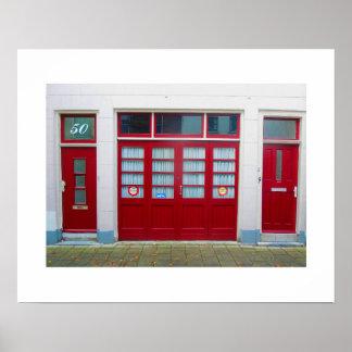 Dutch Photograph Red Doors #50 Poster