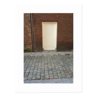 Dutch Photograph White Alley Door Postcard