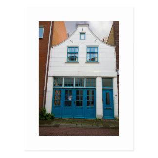 Dutch Photograph White and Blue House Postcard