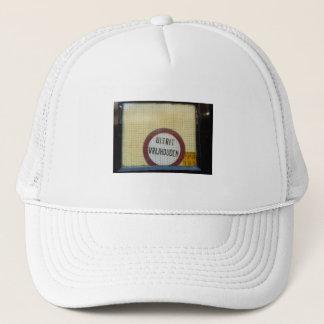 Dutch Photograph Window  Don't Block Exit Trucker Hat