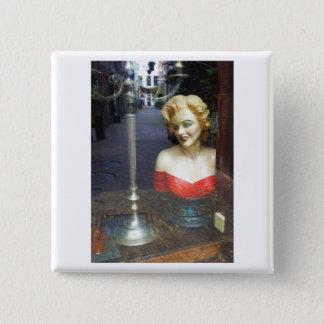 Dutch Photograph Window Reflection 2 Inch Square Button
