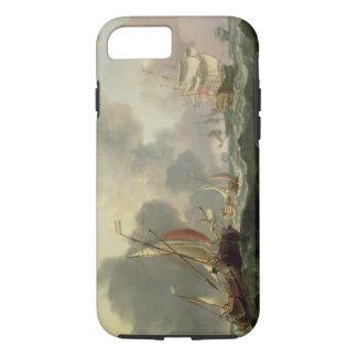 Dutch Pinks and a British Frigate in Choppy Seas iPhone 7 Case