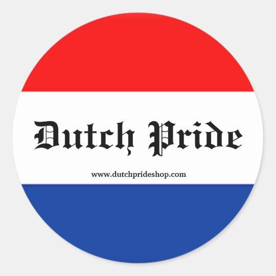 Dutch Pride stickers! Classic Round Sticker