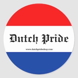 Dutch Pride stickers! Round Sticker