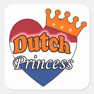 Dutch Princess Square Sticker