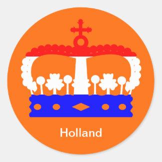 Dutch Queen's day Round Sticker