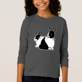Dutch Rabbits Girls' Long Sleeve T-Shirt
