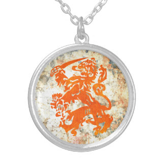 Dutch Republic Lion Silver Plated Necklace