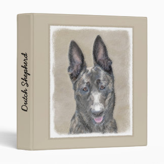 Dutch Shepherd Painting - Cute Original Dog Art Binders