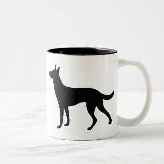Dutch Shepherd Two-Tone Coffee Mug