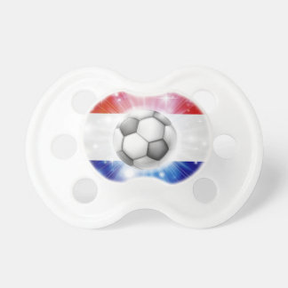 Dutch soccer flag pacifier