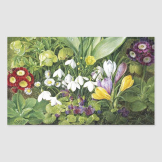 Dutch Spring Flowers Sticker