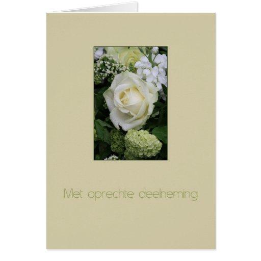Dutch Sympathy Met oprechte deelneming Greeting Cards