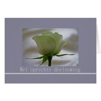 Dutch sympathy - oprechte deelneming greeting card