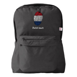 Dutch touch fingerprint flag backpack