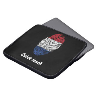 Dutch touch fingerprint flag laptop sleeve