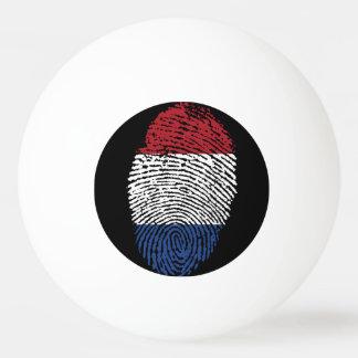 Dutch touch fingerprint flag ping pong ball