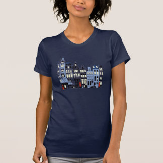 Dutch Town At Night T-Shirt