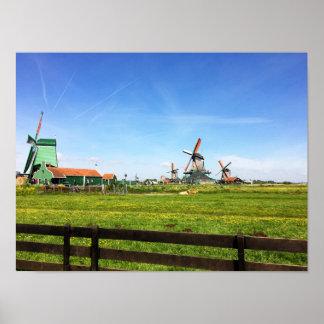 Dutch town of Zaandam Poster