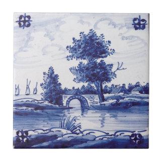 Dutch traditional blue tile