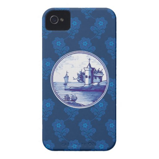 Dutch traditional blue tile blackberry bold case