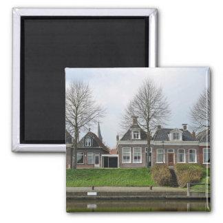 Dutch Traditional Row Houses Fridge Magnets