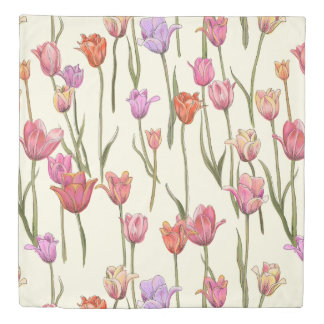 Dutch Tulips Duvet Cover