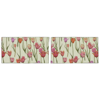 Dutch Tulips Pillow Cases Set