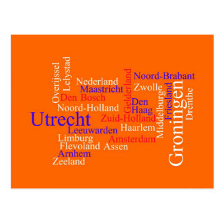 Dutch Typography Card Post Cards