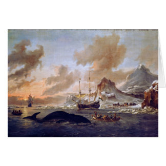 Dutch Whalers Near Spitsbergen by Abraham Storck Card